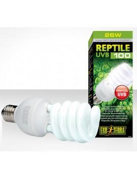 EXOTERRA LAMPADA RETTILI UVB REPTI GLO COMPACT 26WATT 5.0 ATTACCO E27
