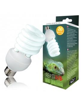 AQPET LAMPADA UVB UVA 5.0 5% REPTI UVB GLO COMPACT LAMPADA PER RETTILI TERRARIO 26WATT