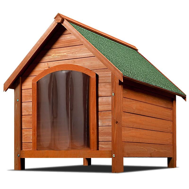 Aqpet cuccia per cane cani in legno impermeabile tetto for Cuccia cane ikea prezzo