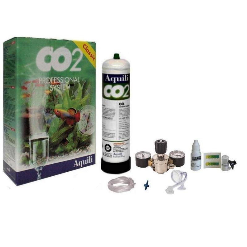 Aquili co2 pro green system impianto per acquari acquario for Arredo acquario acqua dolce