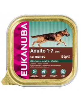 EUKANUBA DOG CIBO UMIDO PER CANE MANZO PER CANI ADULTI DI TUTTE LE TAGLIE (1-7ANNI) 150 GR.