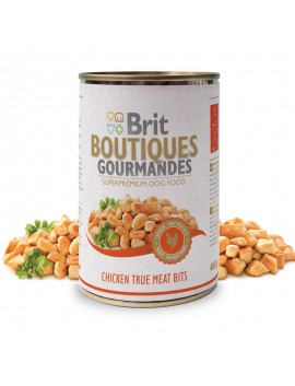 BRIT BOUTIQUES CHICKEN TRUE MEAT BITS CIBO UMIDO 400 GR.