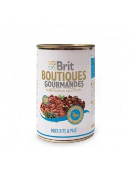 BRIT BOUTIQUES GOURMANDES DUCK BITS&PATE CHICKEN CIBO UMIDO 400 GR.