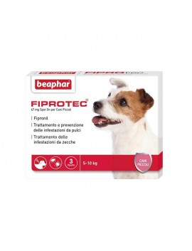 BEAPHAR ANTIPARASSITARIO FIPROTEC SPOT ON CANE 3 FIALE DIVERSE TAGLIE