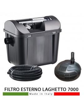 FILTRO ESTERNO PER LAGHETTO GIARDINO PRATICO POND 7000 LAMPADA UVC 7W COMPLETO AQUV7000