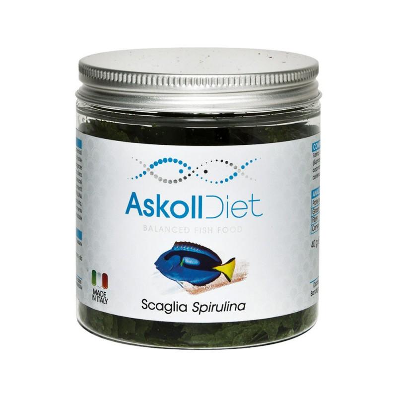 Askoll diet scaglia spirulina cibo per pesci webaquarium for Cibo per pesci tropicali